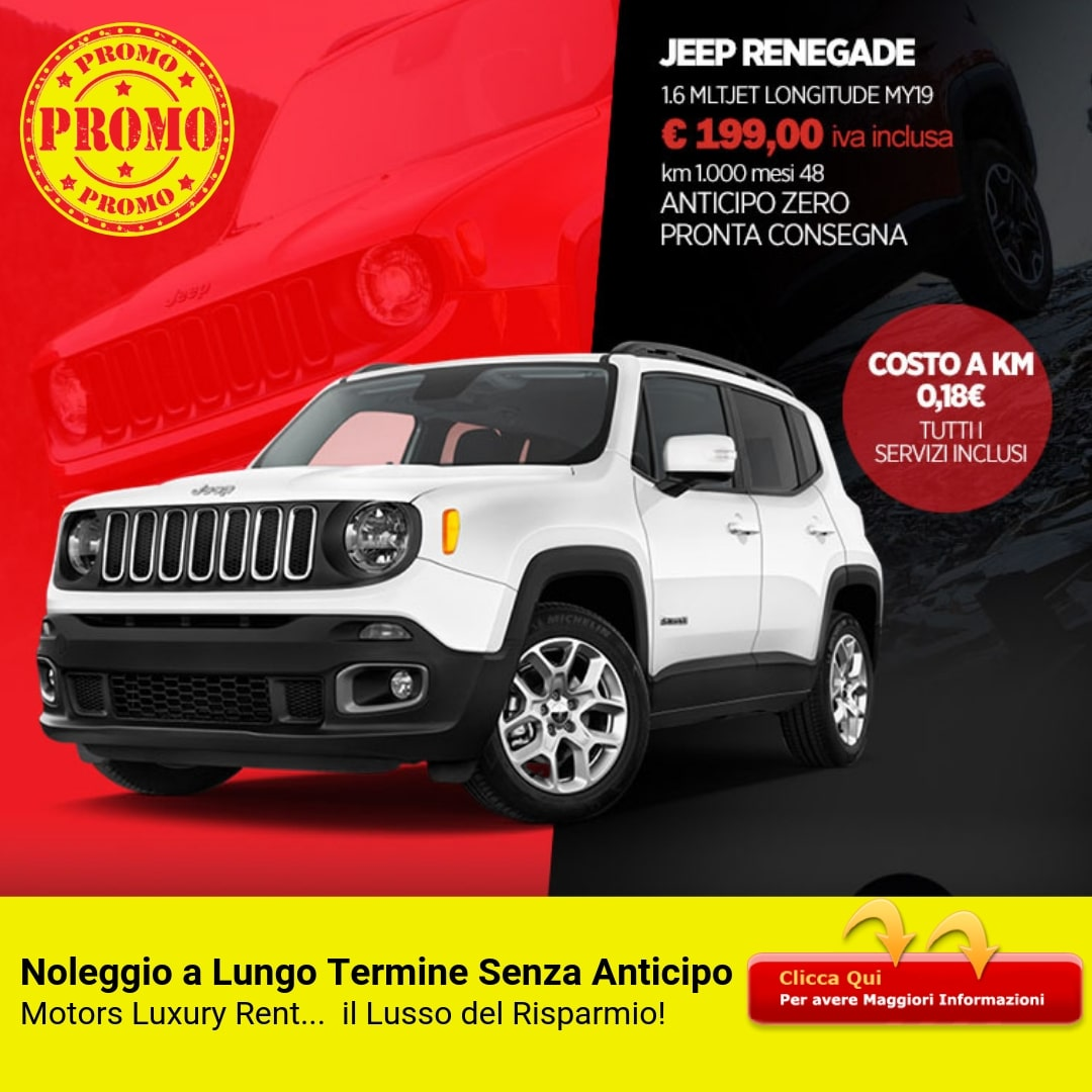 JEEP RENEGADE 1.6 Multijet Longitude MY19